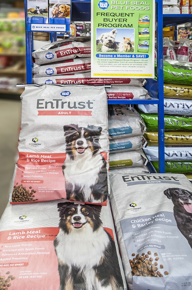 entrust pet food